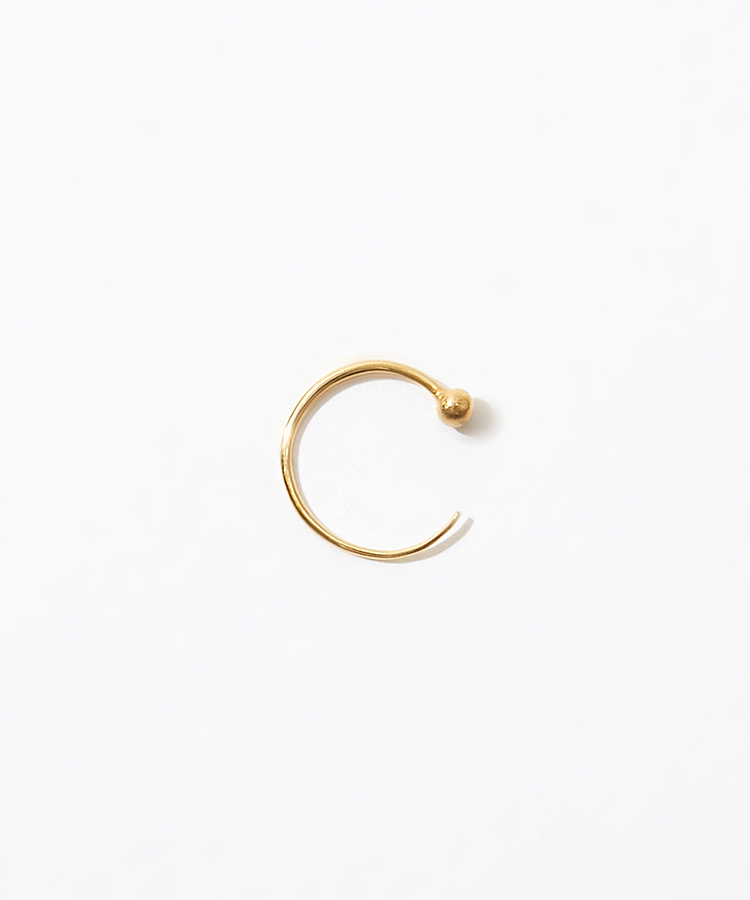 [grain] K10 stud mini hoop pierced earring