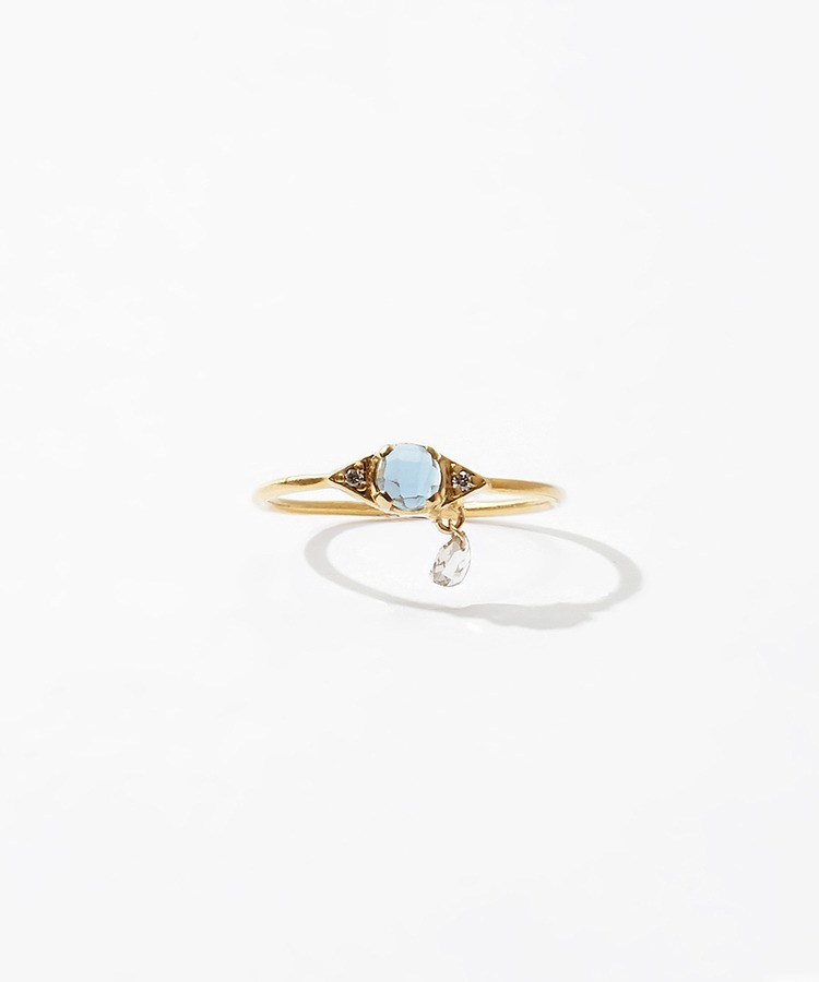 [evil eye] K10 london blue topaz ring