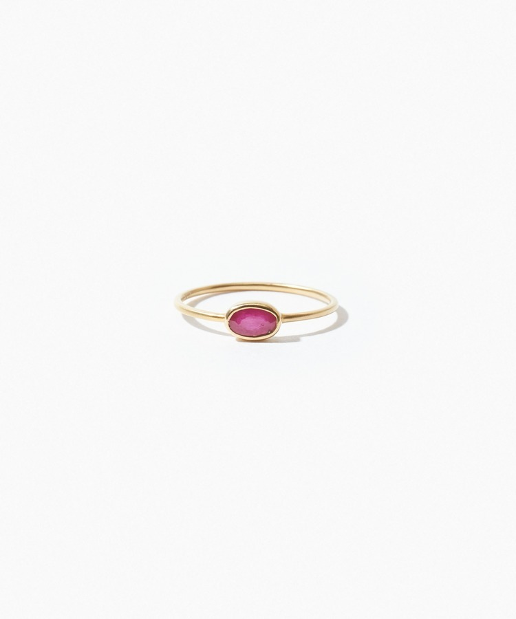 [jardin] K10 oval ruby ring