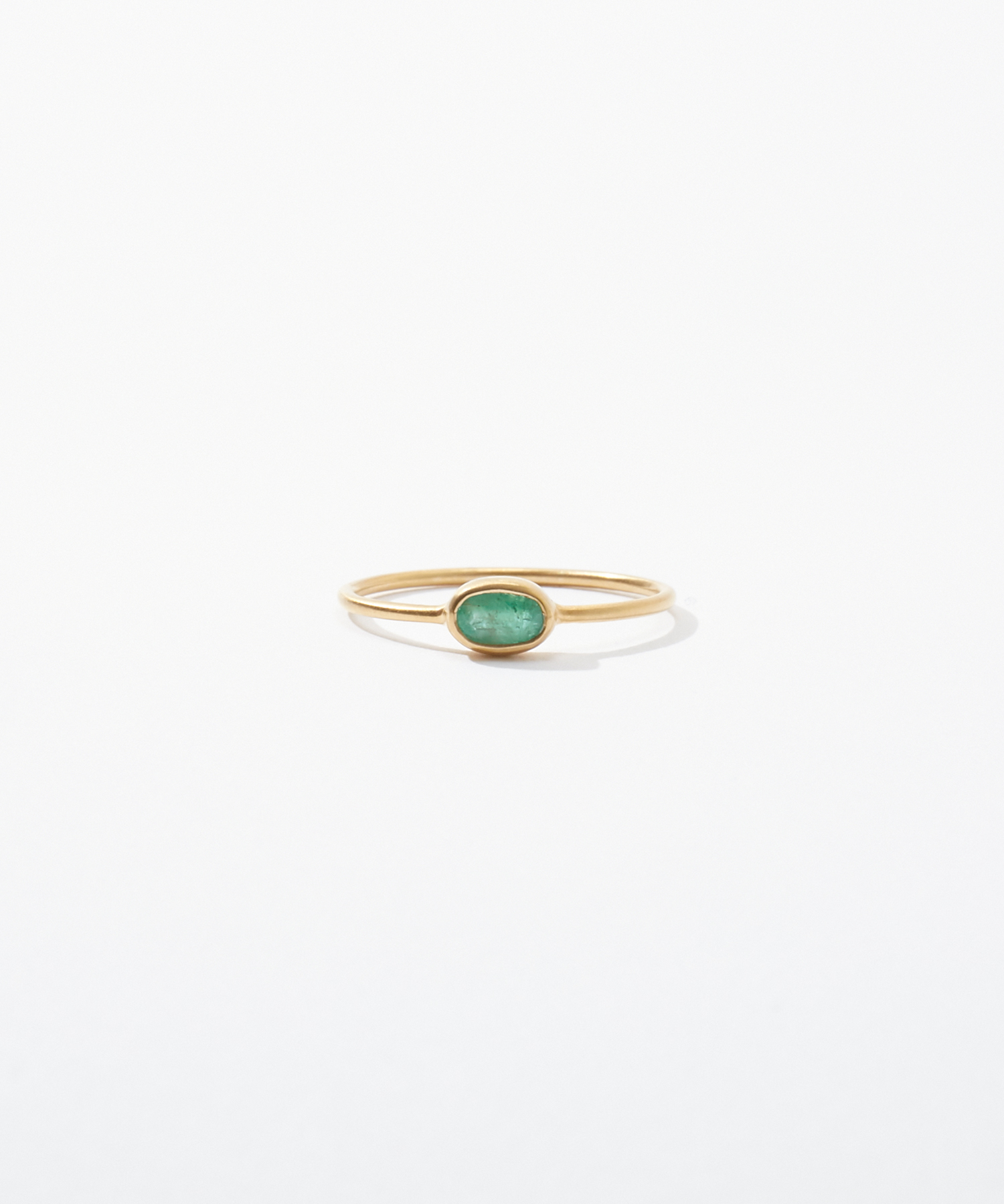 [jardin] K10 oval emerald ring