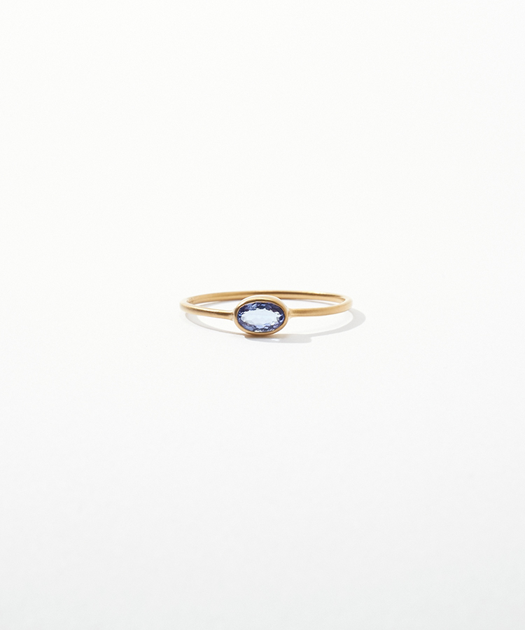 [jardin] K10 oval tanzanite ring