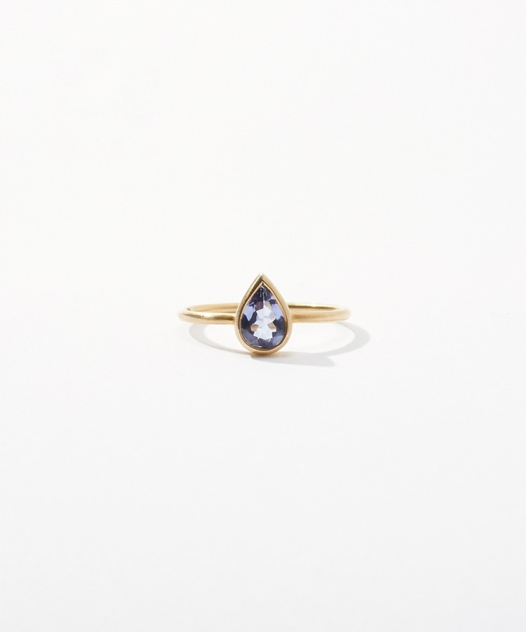 [jardin] K10 pear-shaped tanzanite ring