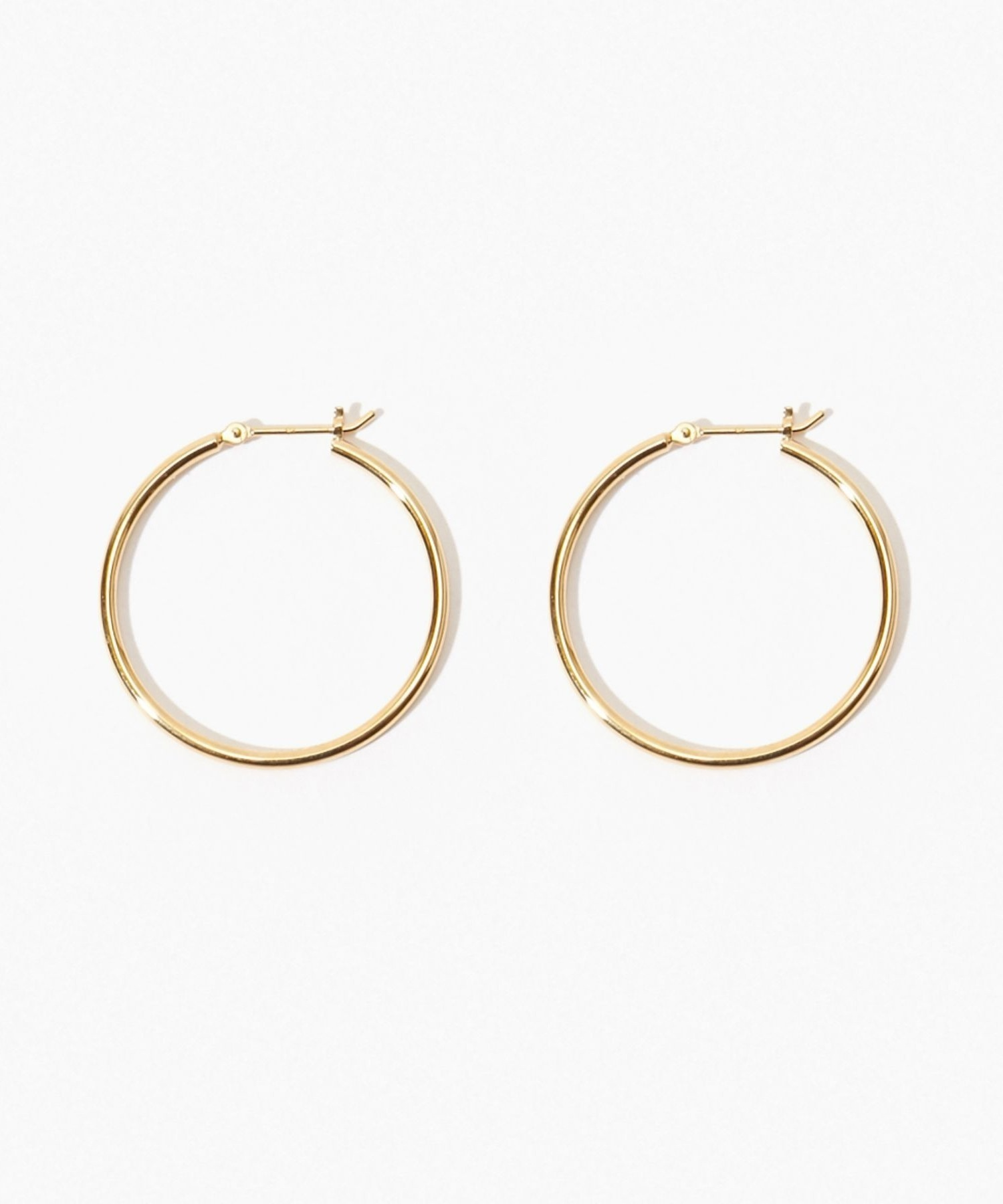 [bone] organic thin middle hoop pierced earring