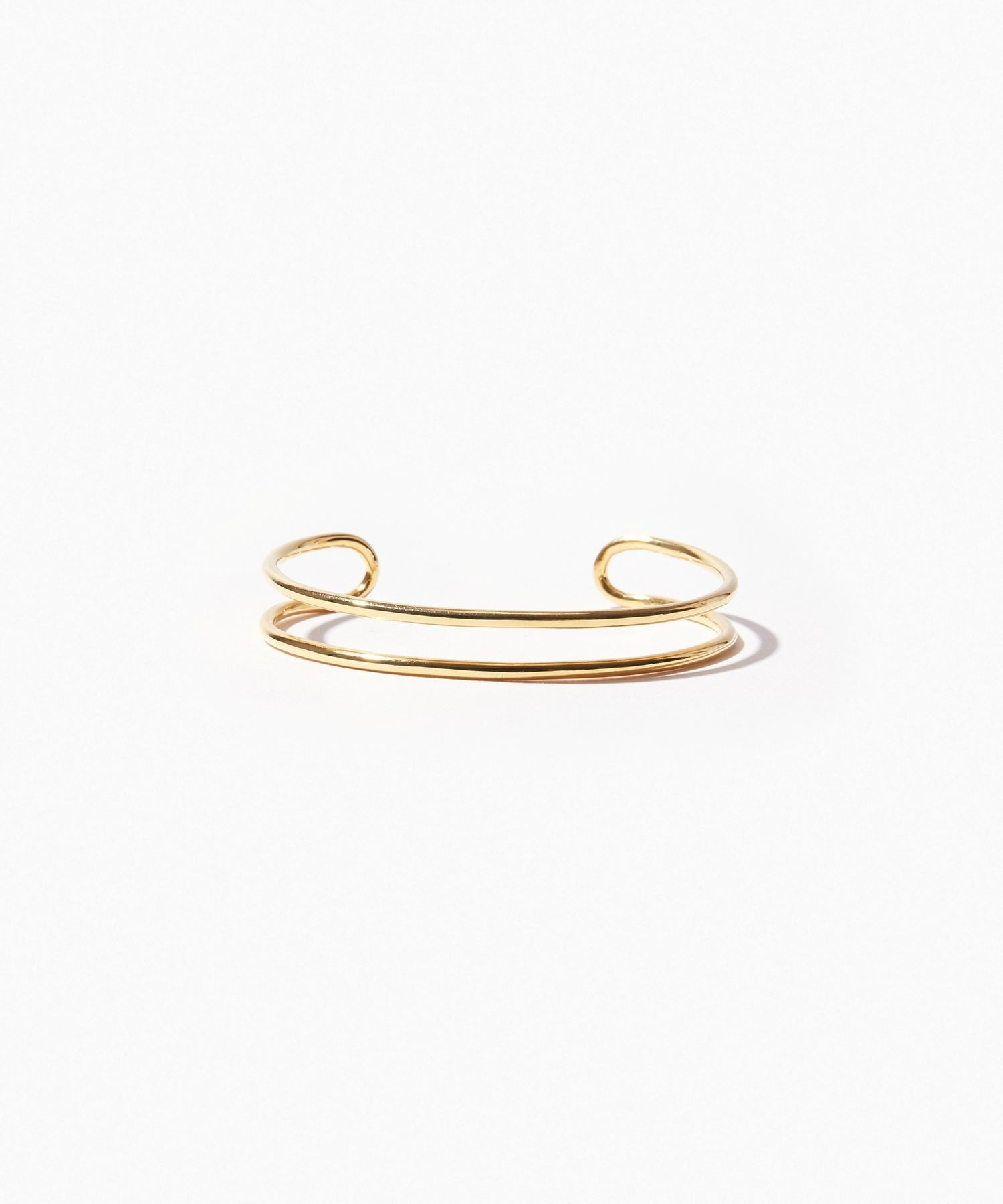 [bone] organic thin double line bangle