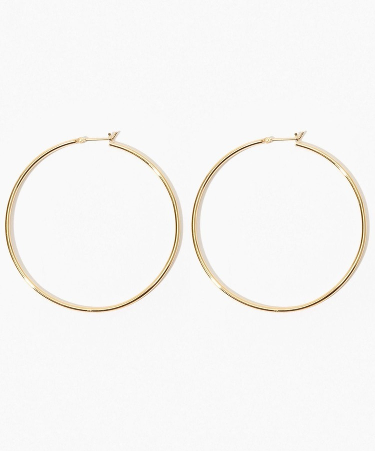 [bone] organic thin large hoop pierced earring