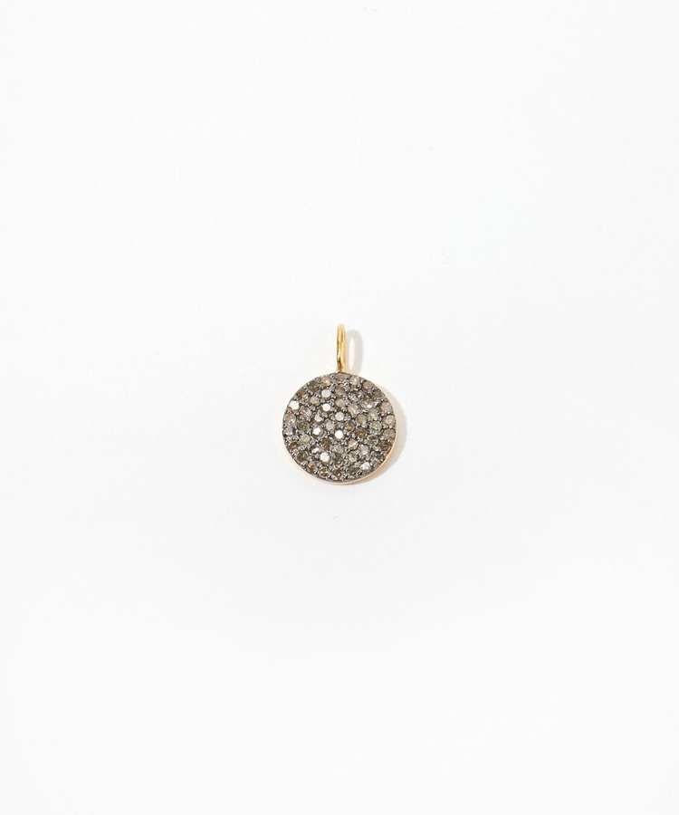 """selene"" grand-disque pave diamondss charm"
