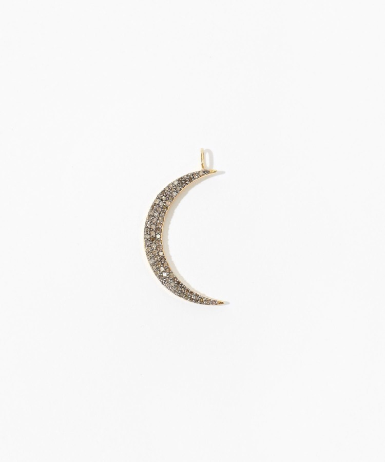 """selene"" grand new moon pave diamondss charm"