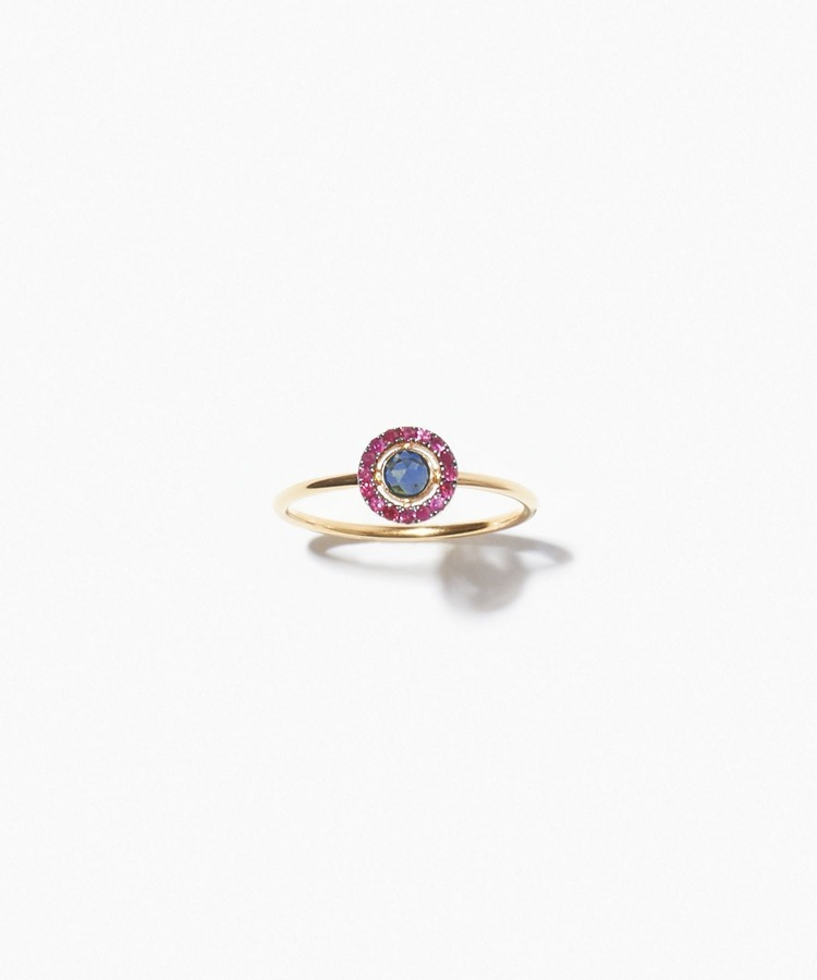 [jupiter] disque sapphire and ruby ring