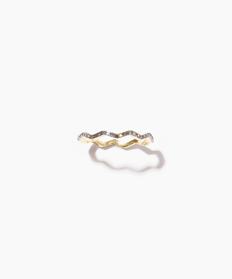 [citronnier] branch pave diamondss ring