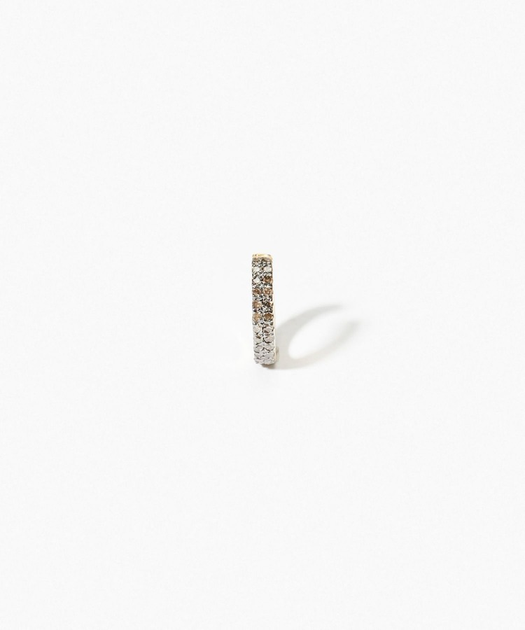 """gaia"" double pave small ear cuff"