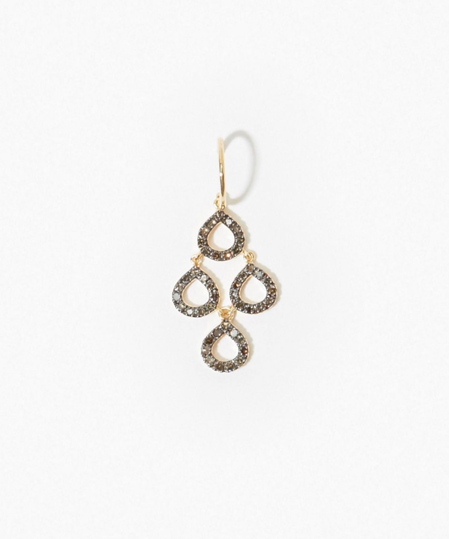 [lotus] petit petal daimond chandelier pierced earring