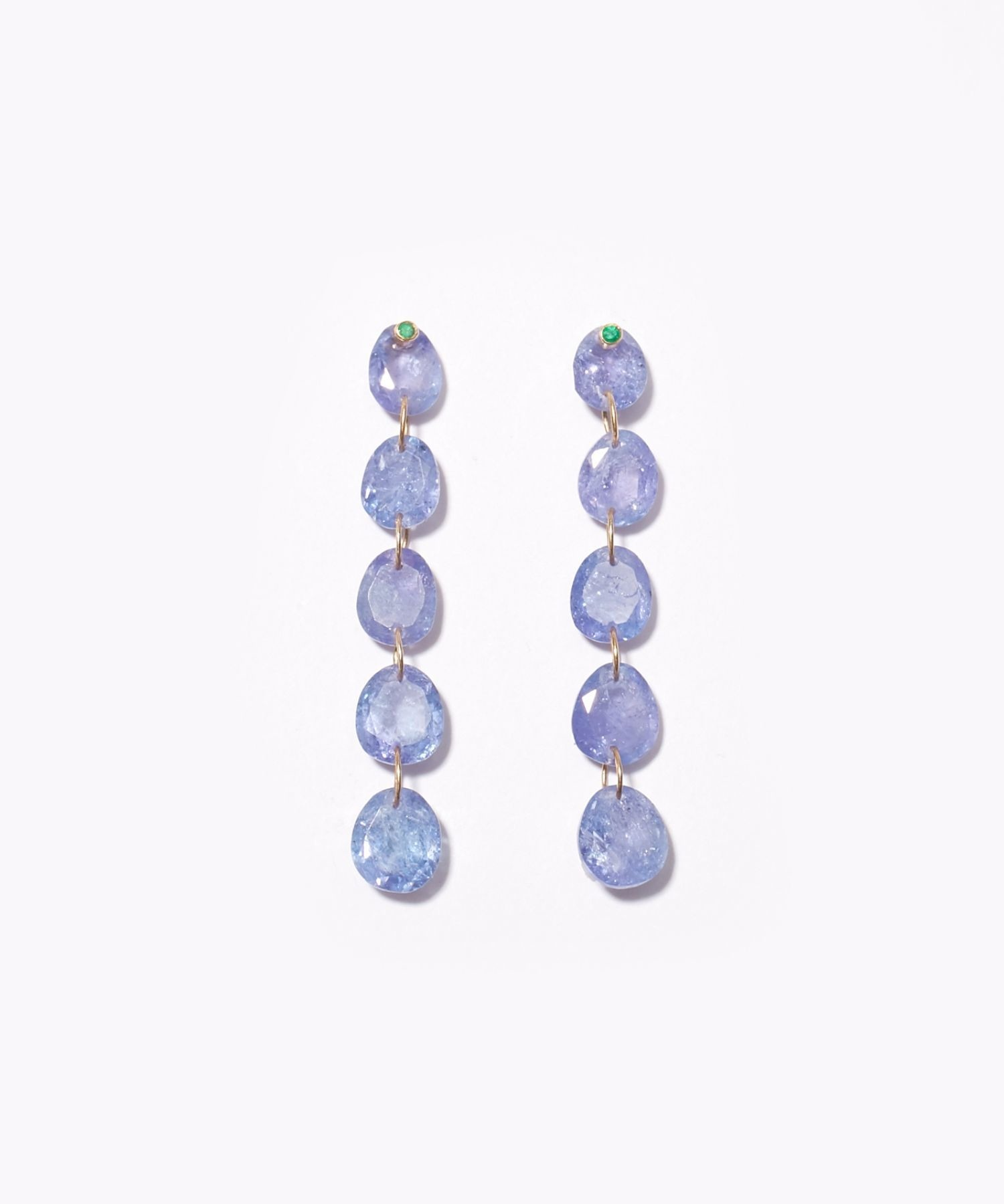 [eden] K10 tanzanite tear drops pierced earring