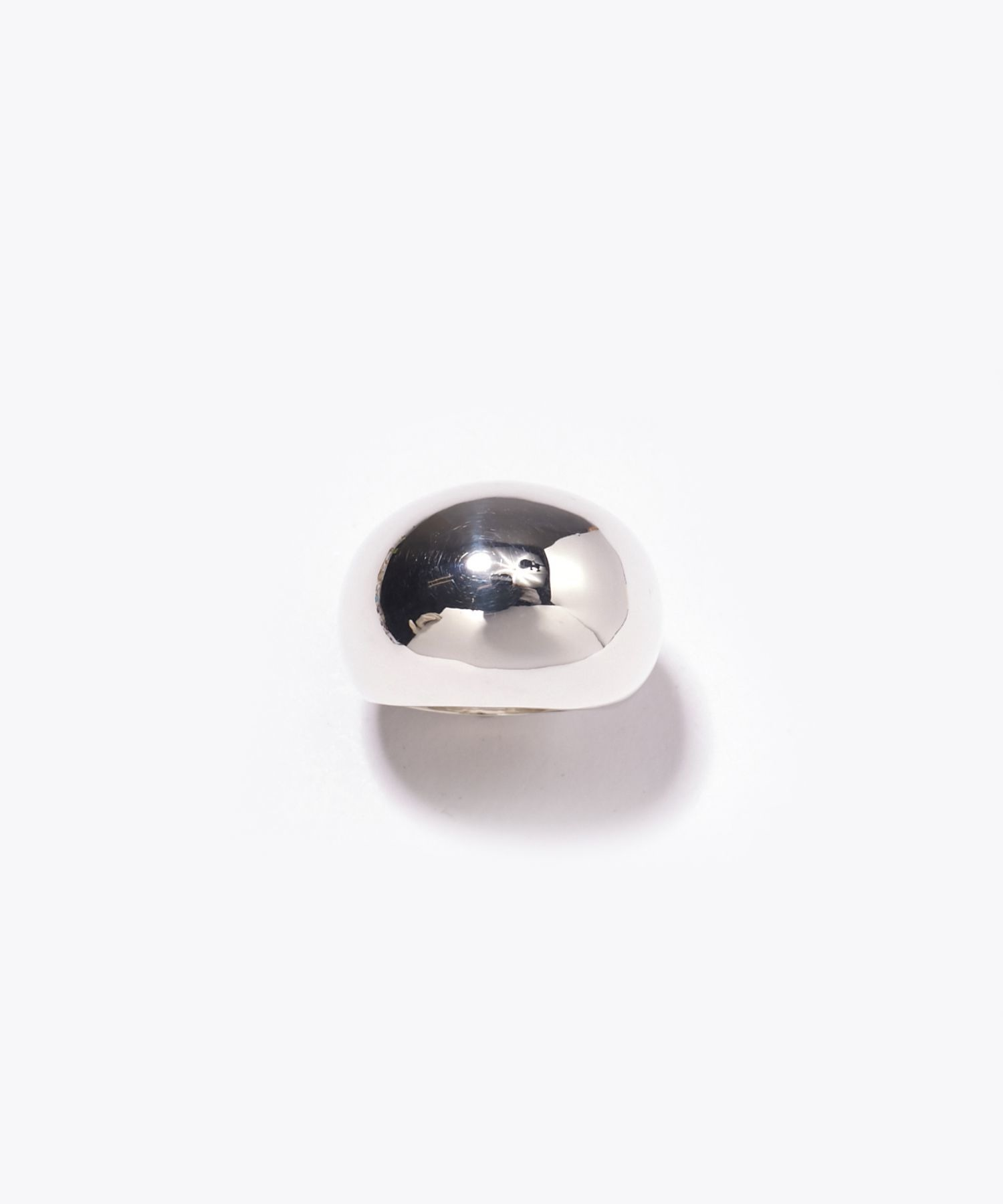 [bone] bean dome silver ring