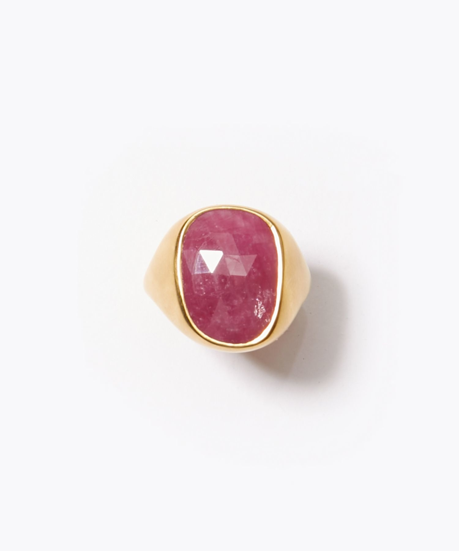 [eutopia] unisex pebble ruby signet ring