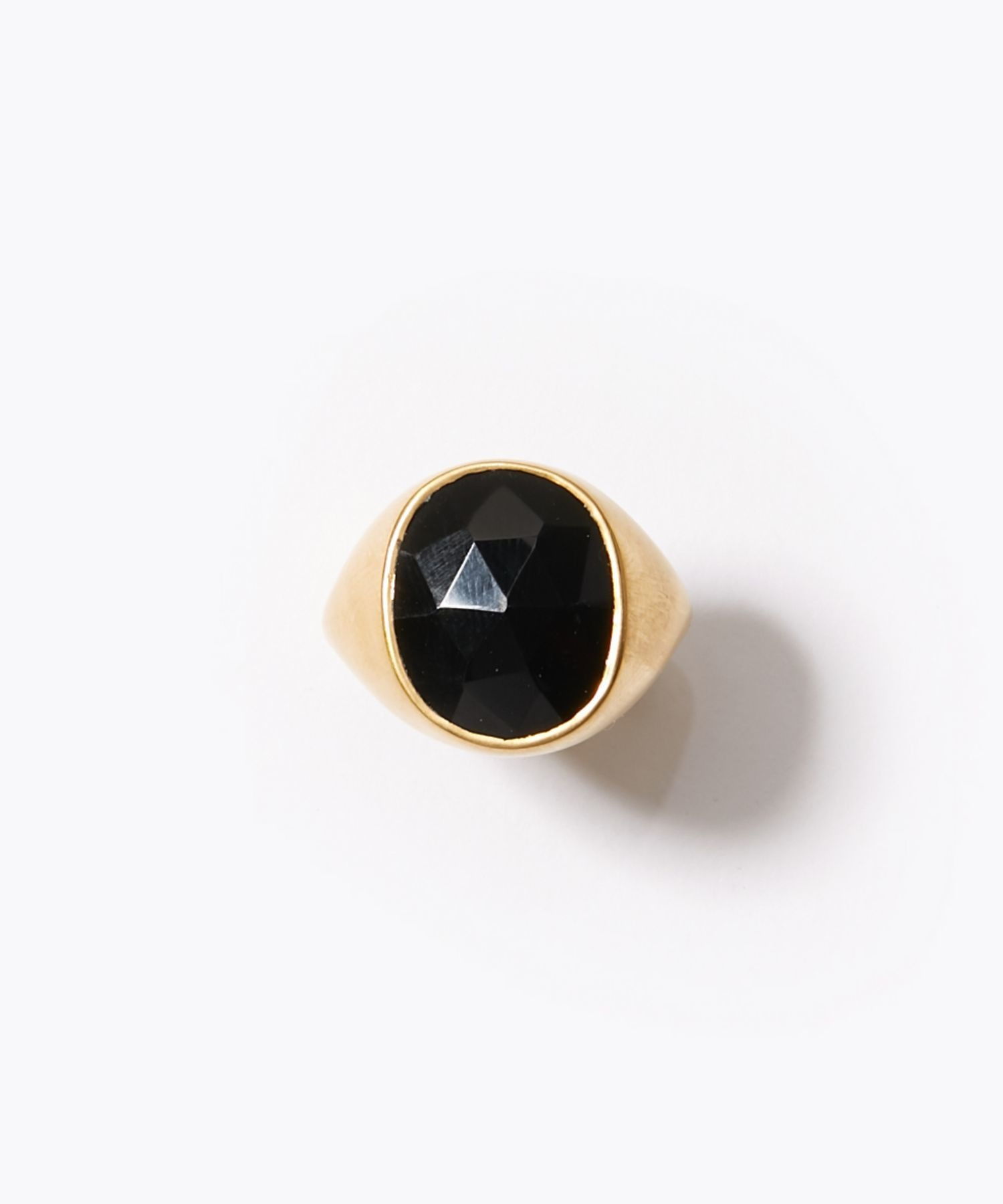 [eutopia] unisex pebble onyx signet ring