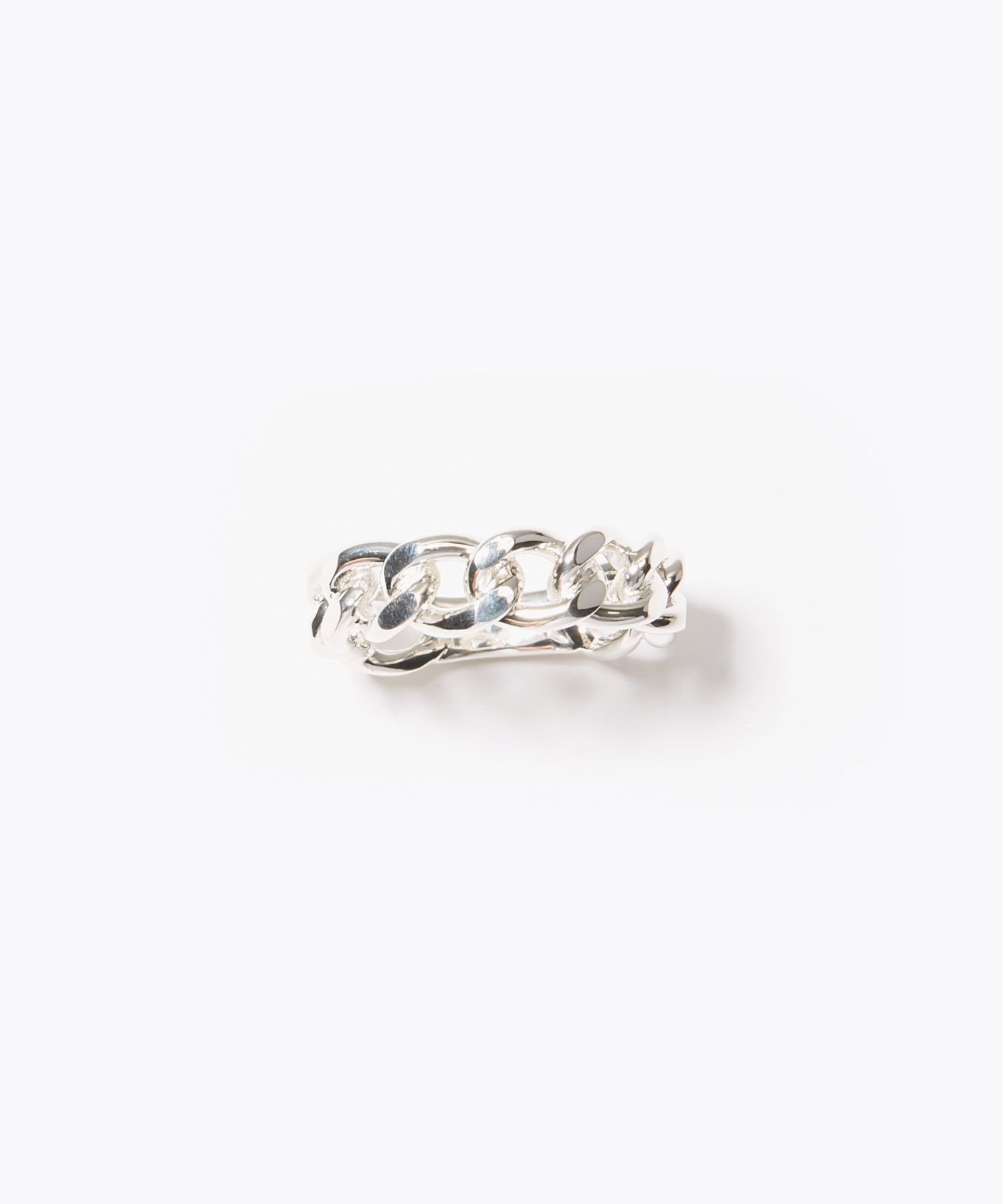 [cord] curve chain silver ring