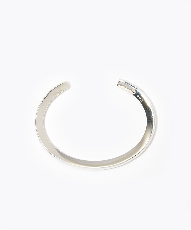[bone] unisex organic thin silver bangle