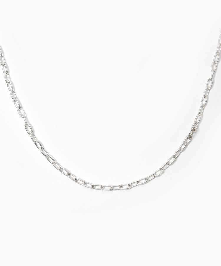 [cord] cable chain silver necklace