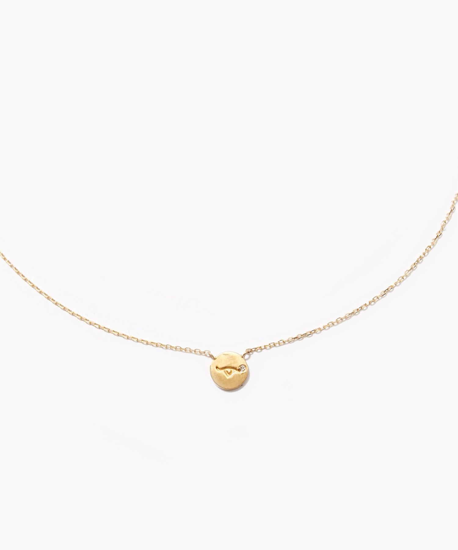 [constellation] Taurus K10 diamond petit medal necklace