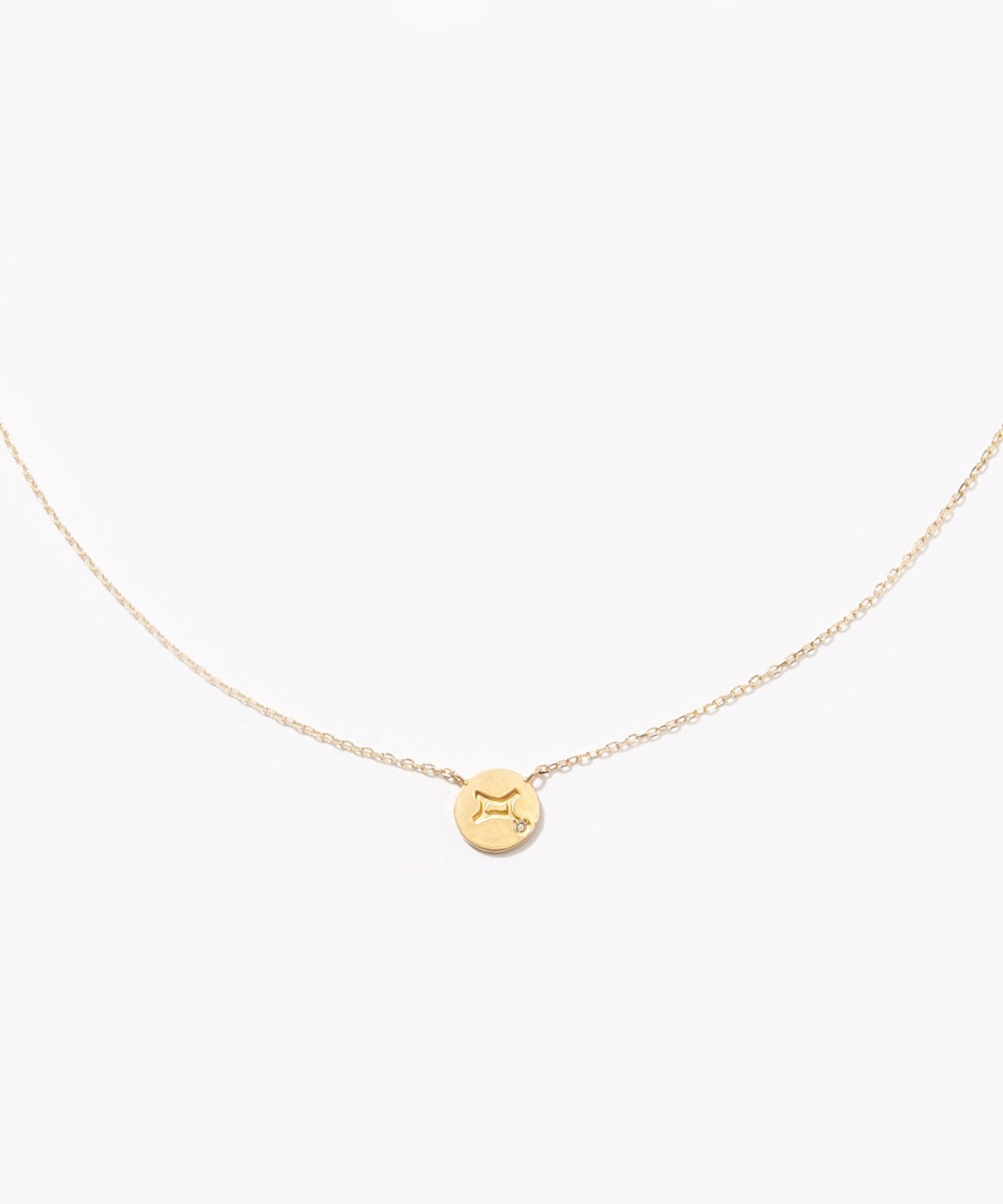 [constellation] Gemini K10 diamond petit medal necklace