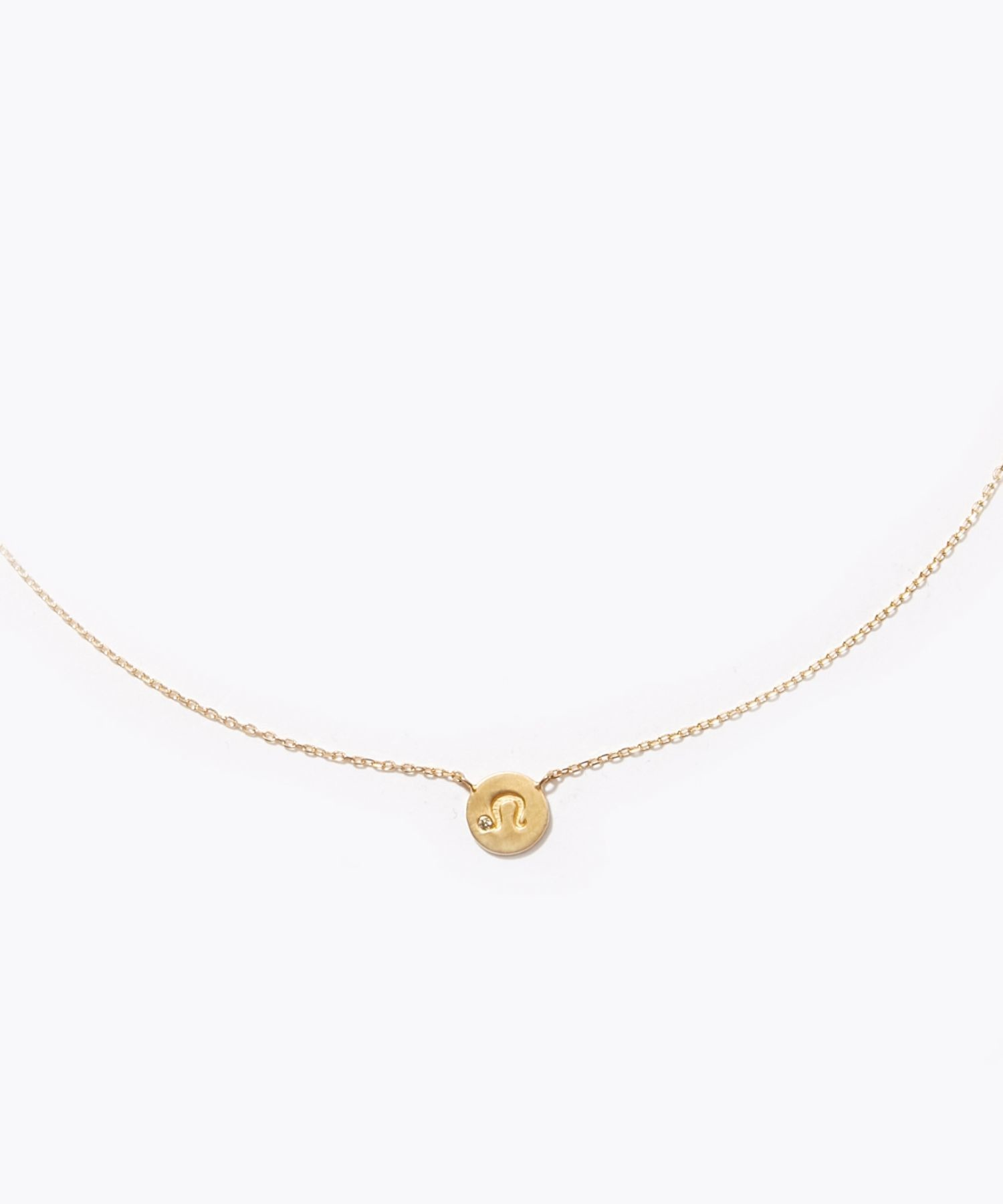 [constellation] Leo K10 diamond petit medal necklace