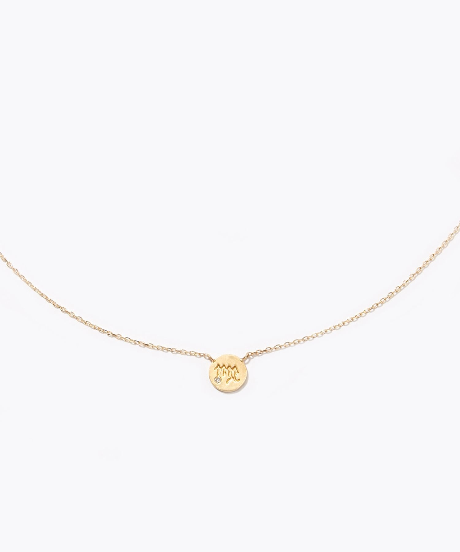 [constellation] Virgo K10 diamond petit medal necklace