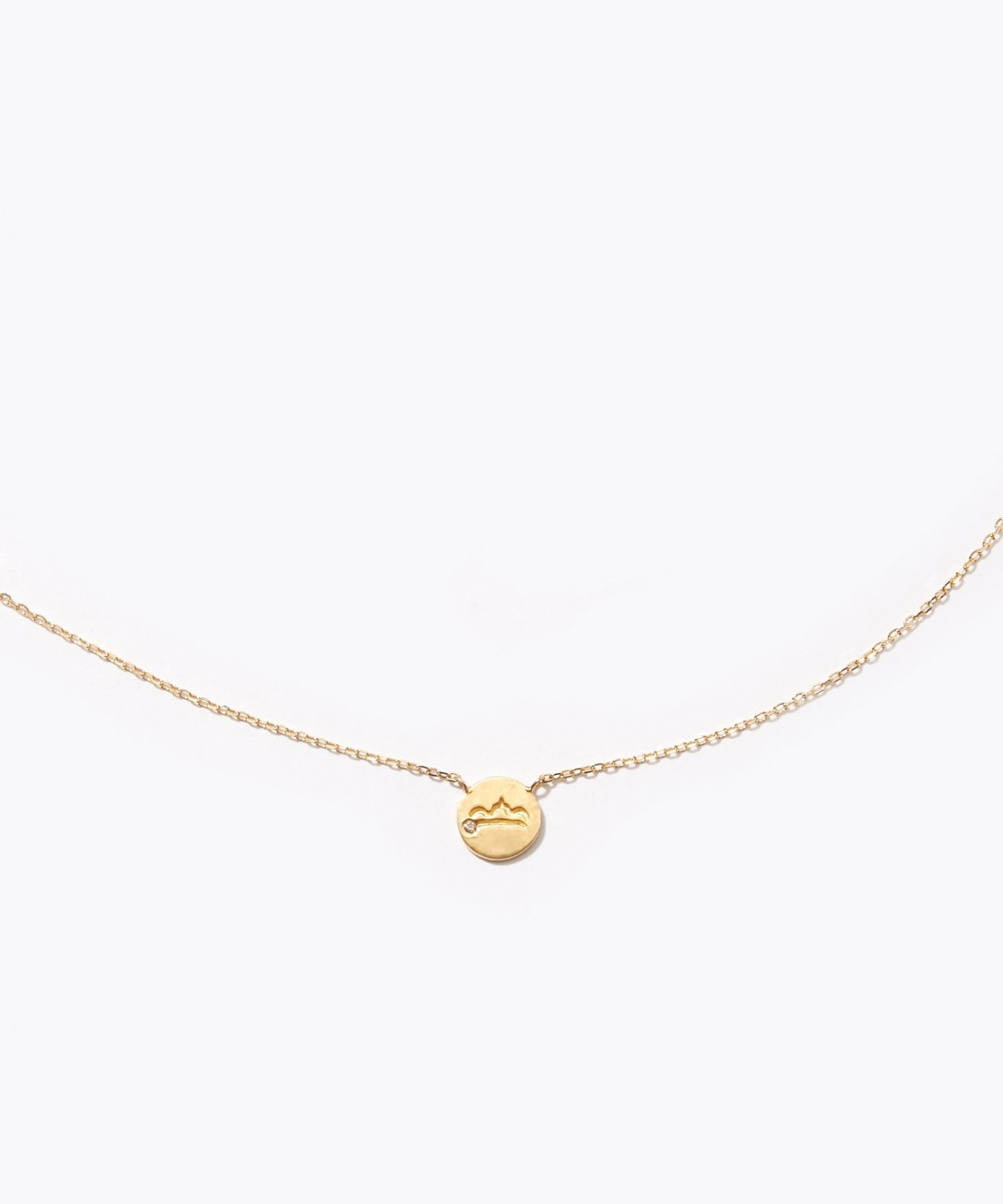 [constellation] Libra K10 diamond petit medal necklace