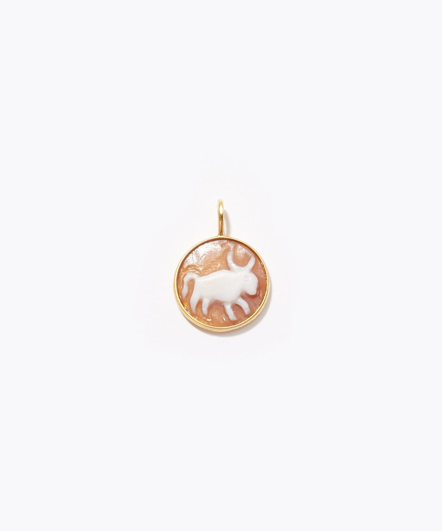 [constellation] Taurus cameo curving charm