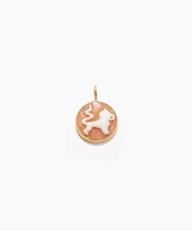 """constellation"" Leo cameo curving charm"