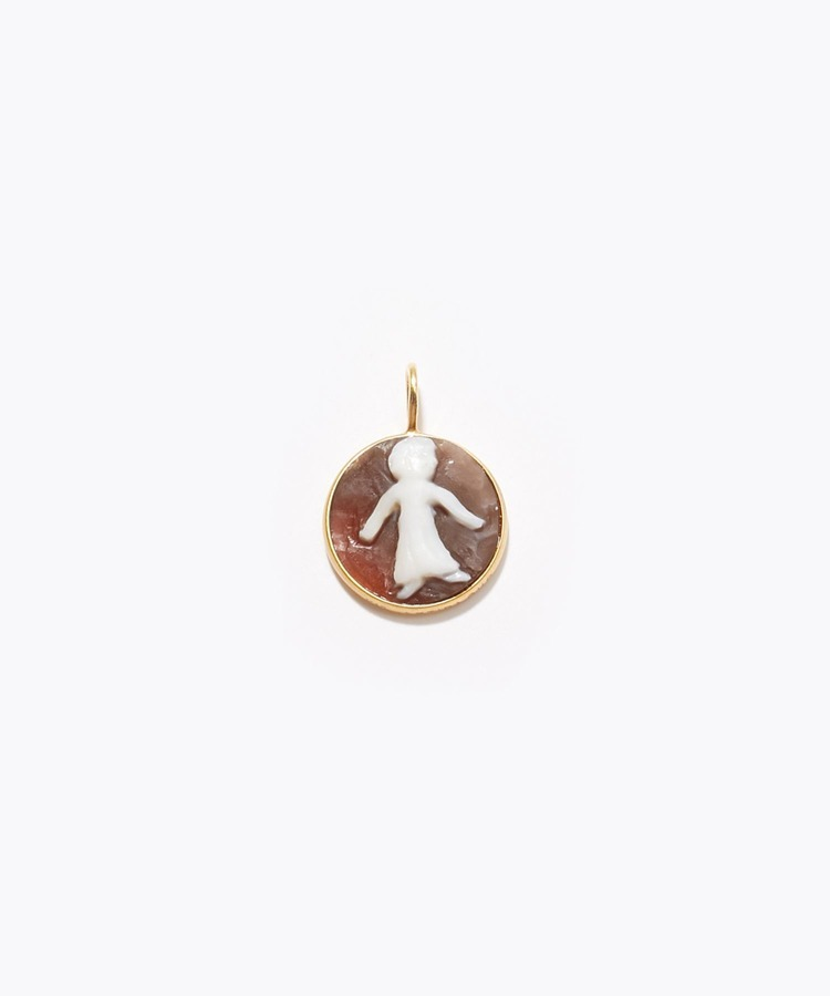 """constellation"" Virgo cameo curving charm"