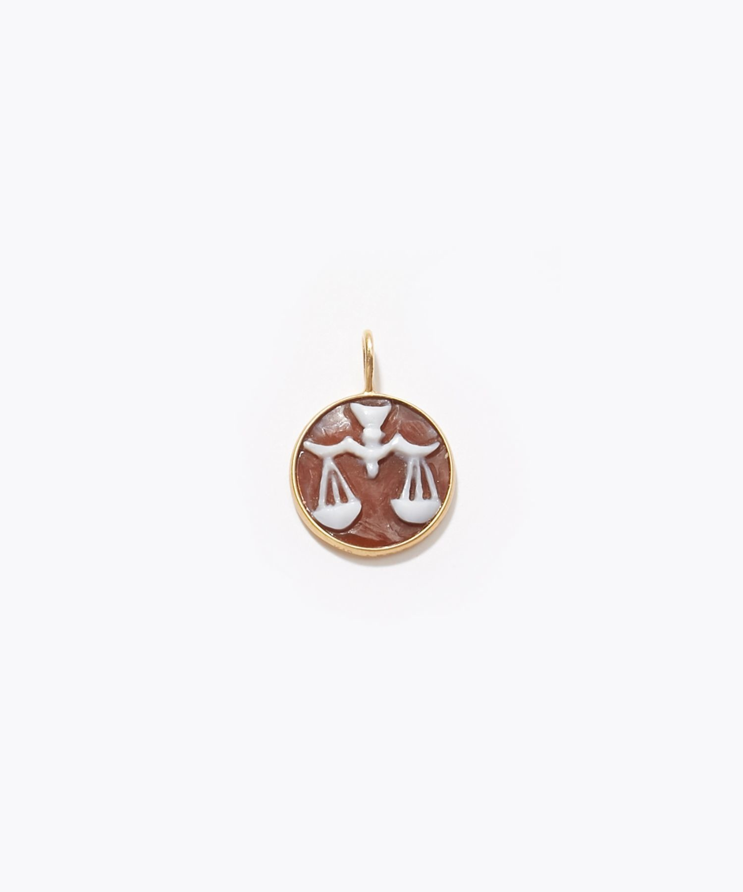 [constellation] Libra cameo curving charm