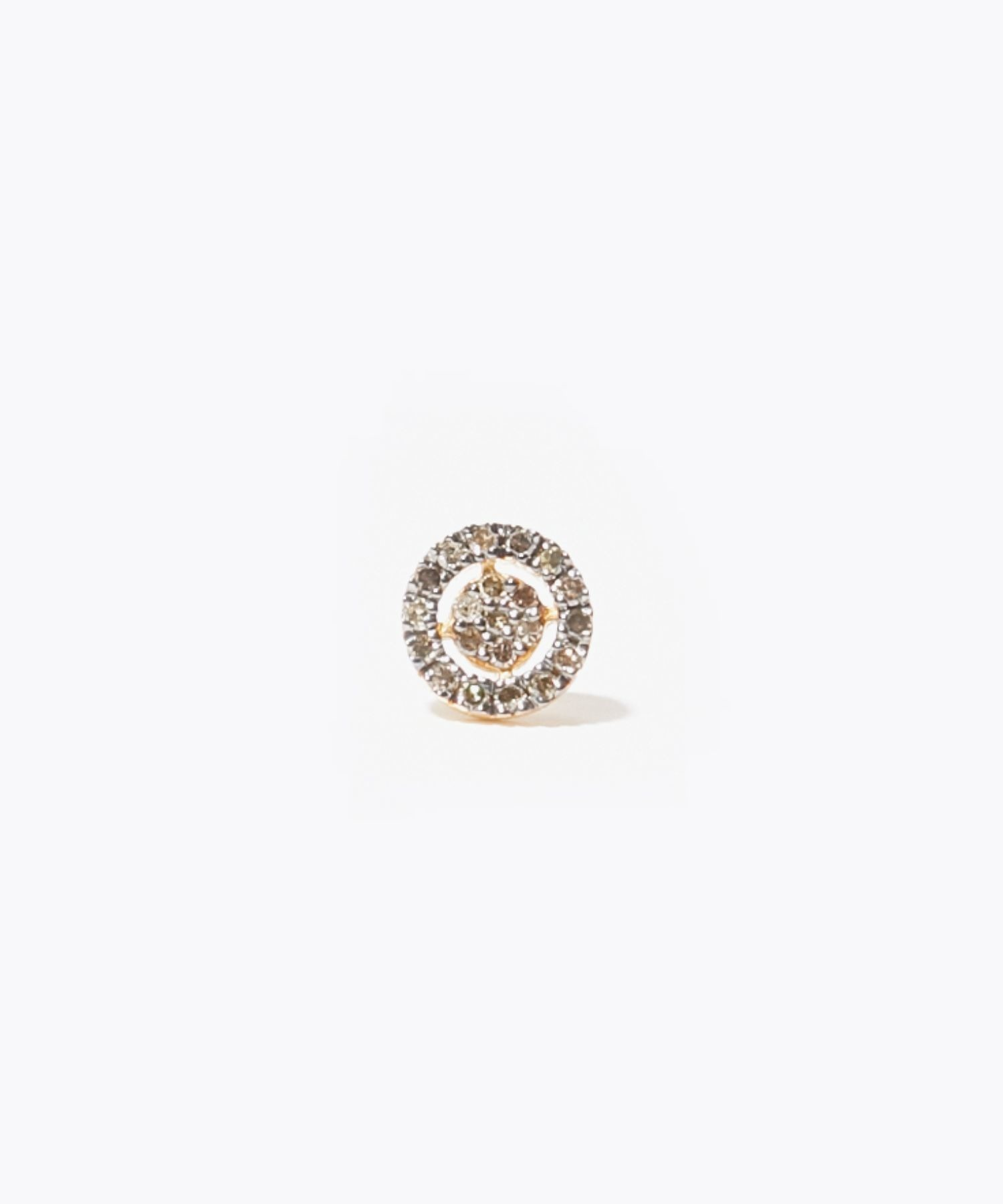 [jupiter] disque pave diamondss stud pierced earring