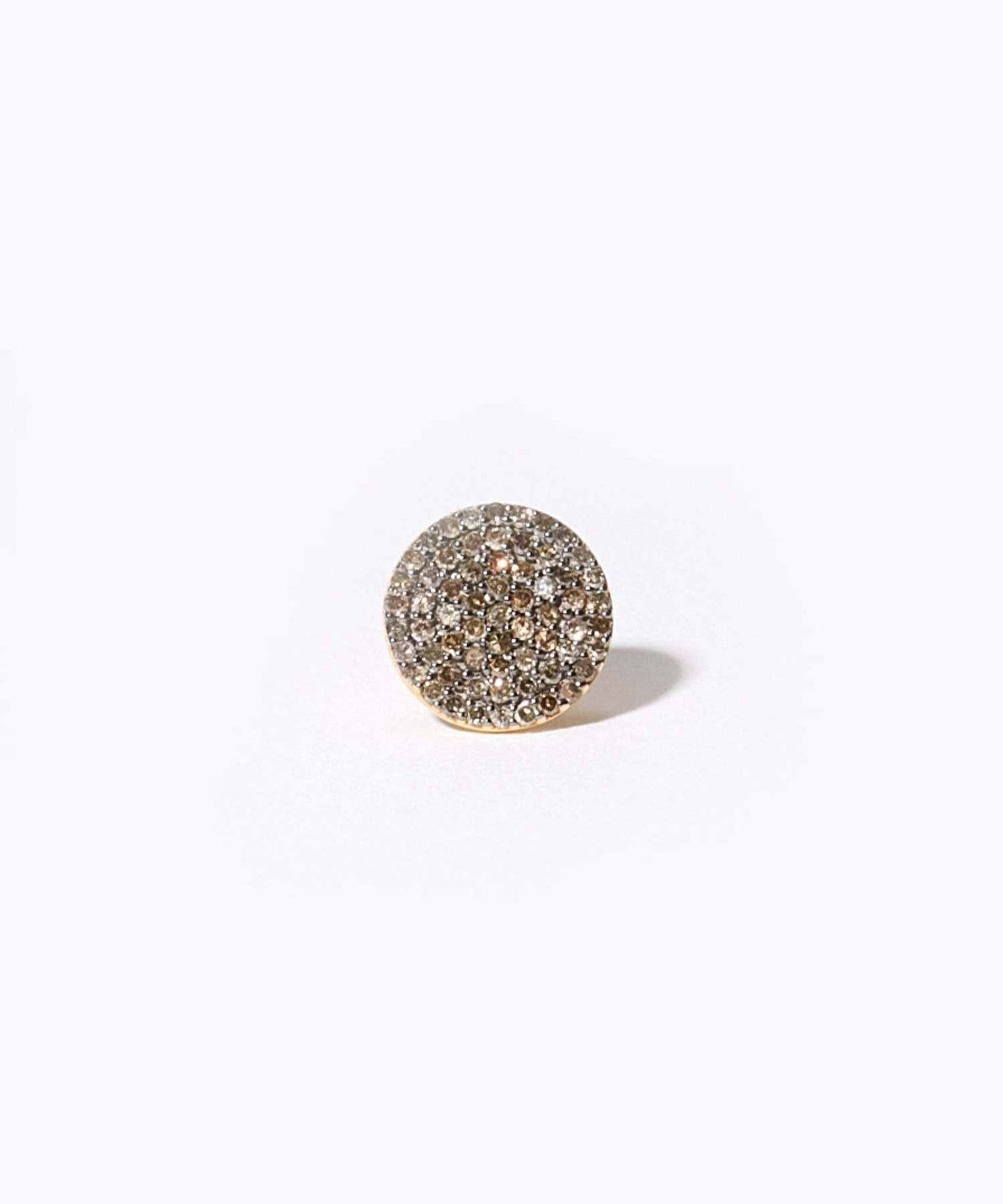 [selene] grand-disque pave diamondss stud pierced earring