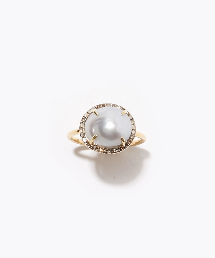 [elafonisi] south sea pearl pave ring