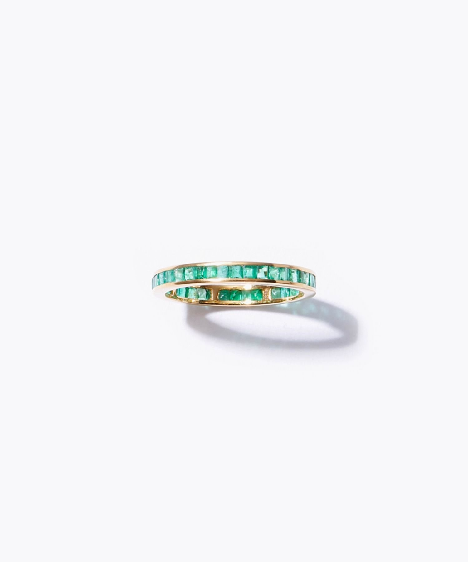 [eden] K10 baguette emerald eternity ring