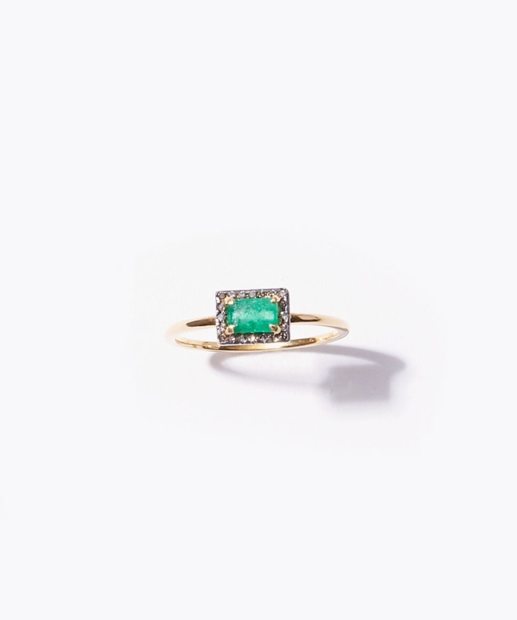[elafonisi] rectangle emerald ring