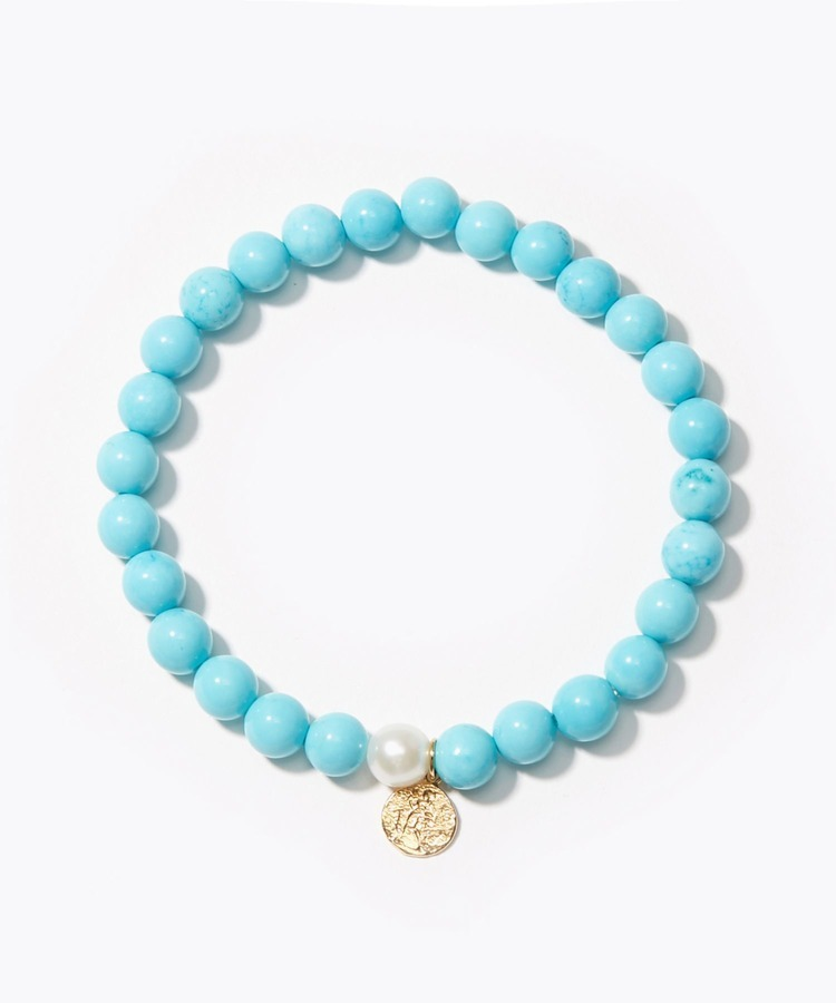 [amulette] [A talisman for courage and prosperity]Turquoise Petite Coin bracelet