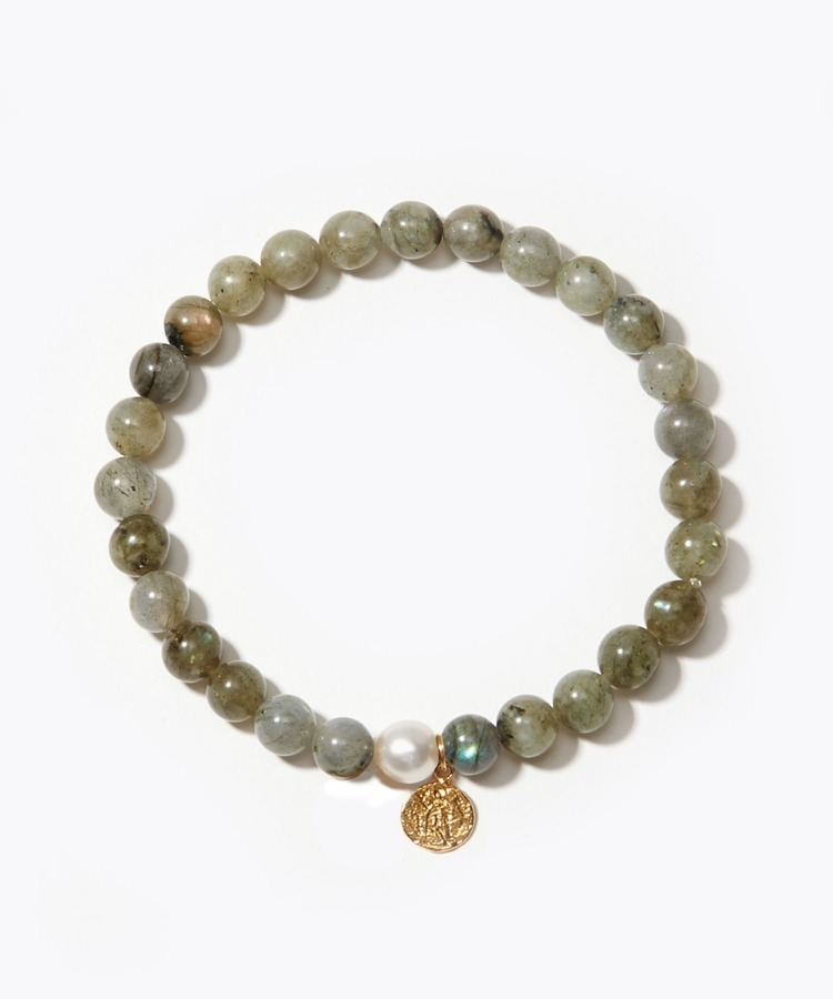 [amulette] [The Power of the Moon and the Sun to Keep the Faith] Labradorite Petite Coin bracelet