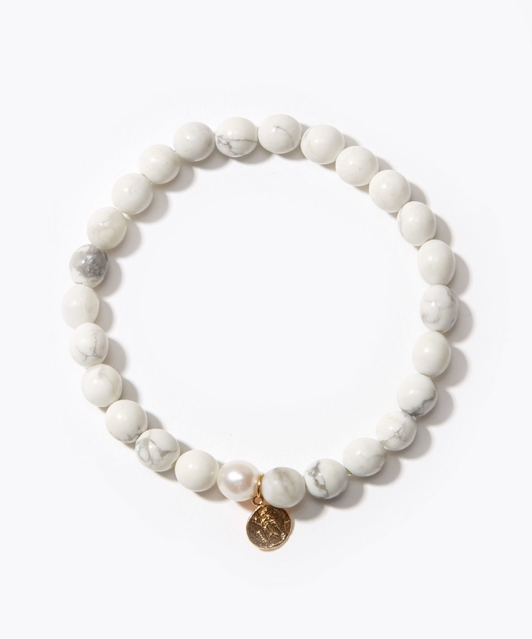 [amulette] [Refresh Your Mind]Howlite Petite Coin bracelet