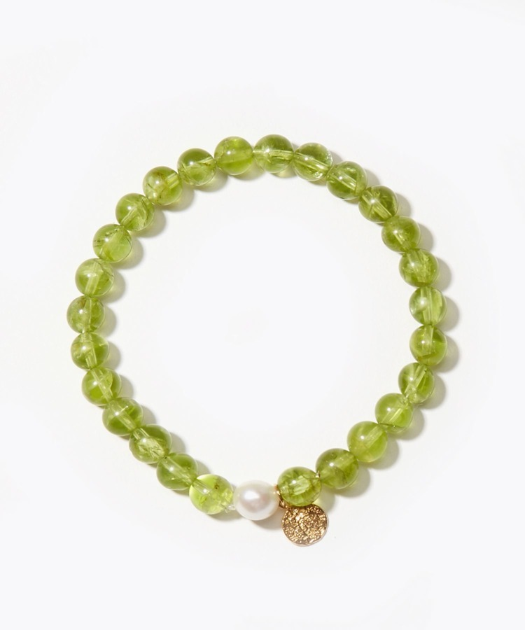 [amulette] [A shining light of hope]peridot petite coin bracelet