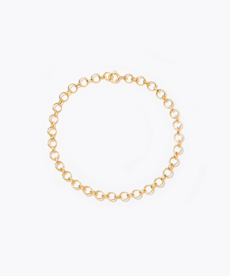 [cord] Indian circle chain anklet