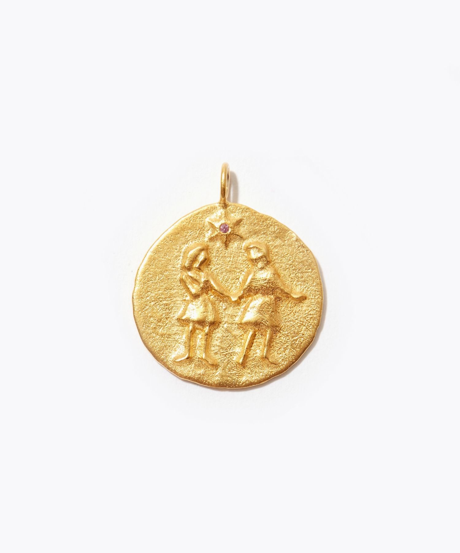 [constellation] Gemini big coin charm