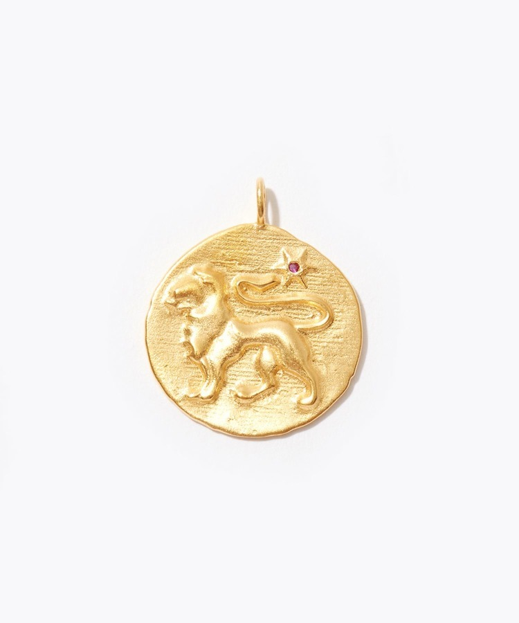 [constellation] Leo big coin charm