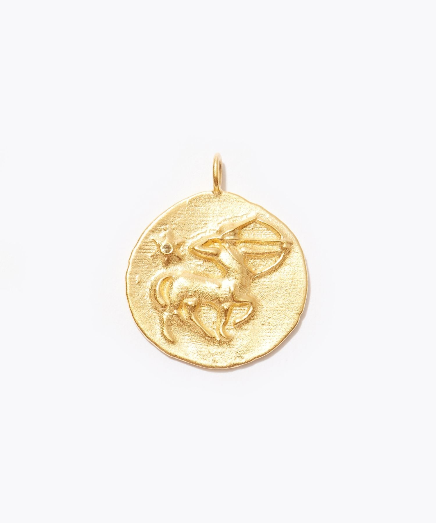 [constellation] Sagittarius big coin charm