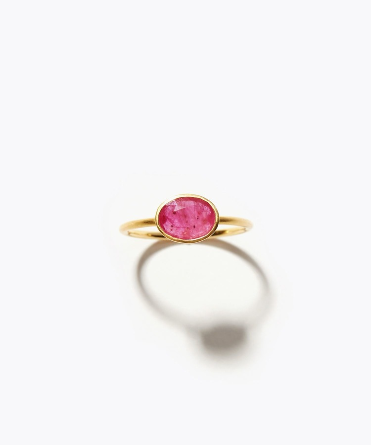 [palais] K18 oval ruby ring