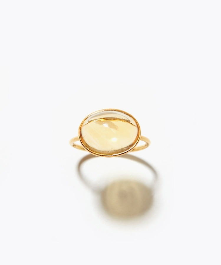 [eden] K10 citrine orange moon stone ring
