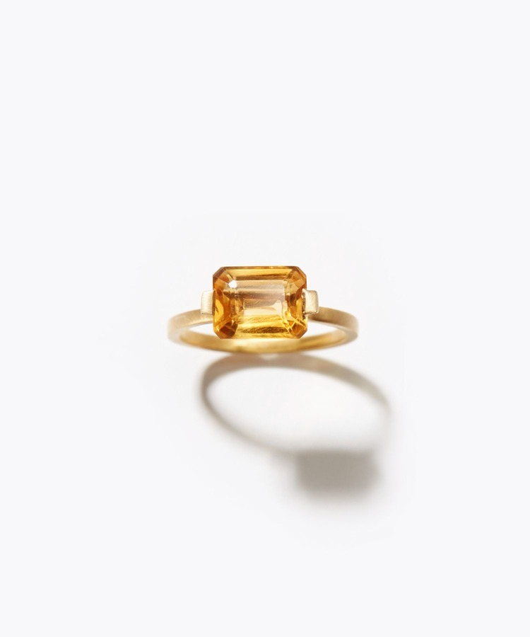 [ancient] rectangle citrine ring