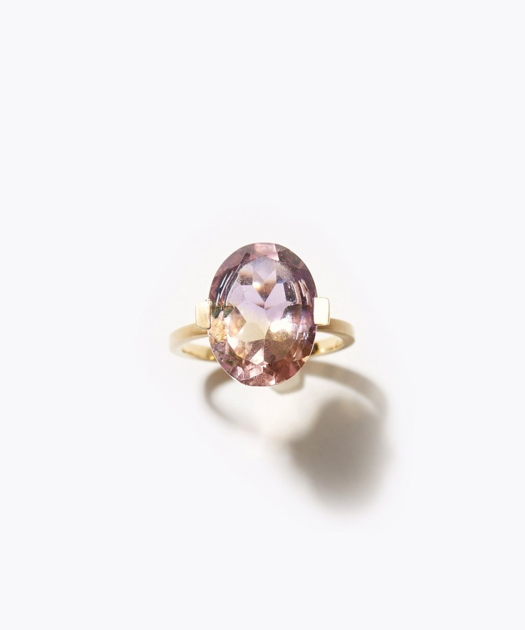 [ancient] oval ametrine ring