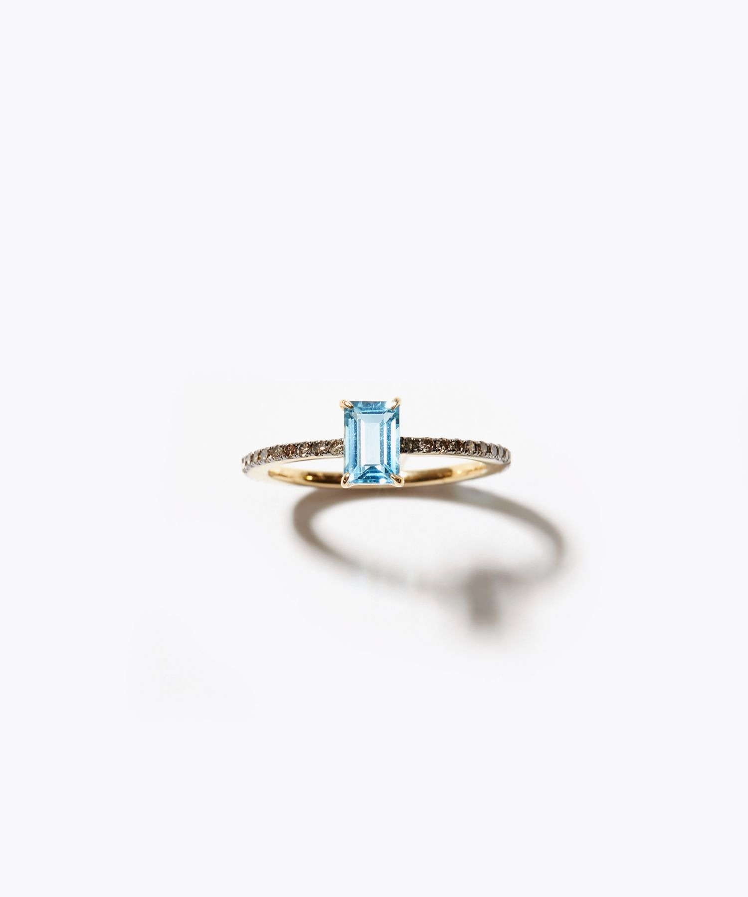 [elafonisi] rectangle blue topaz pave eternity ring