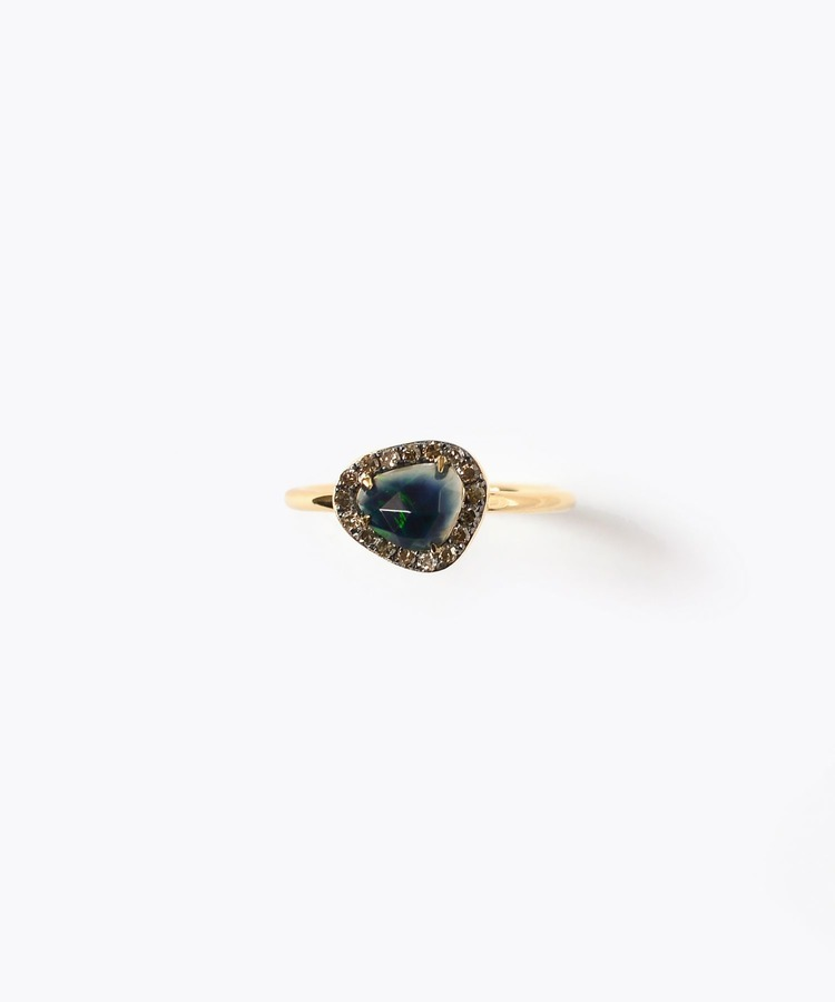 [elafonisi] black opal pave ring